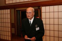 歓迎の挨拶をされる高知県技術士会の村山顧問(満94歳)