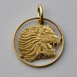 Münzsagewerk Katrin Thull | Äthiopien Löwe goldfarben