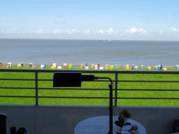 Ferienwohnung mit Seeblick auf die Elbe in Cuxhaven