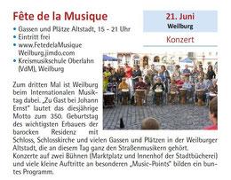 Der gesamte mittelhessische Kultursommer zusammengefasst am 21 06 2014 - Ankündigung im Programmheft
