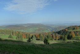 Blick über Reigoldswil bis zum Schwarzwald
