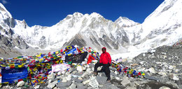 Everest base camp 5.538 meters ( Nepal).