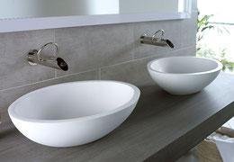 freistehende Waschbecken aus Mineralguss