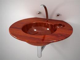 freistehende Holzwaschbecken