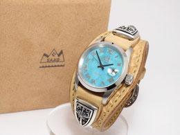 SAAD レザーバンド腕時計/クォーツ