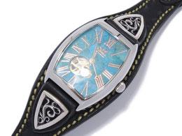 SAAD サード 腕時計 オートマチック 自動巻き ターコイズ 美品