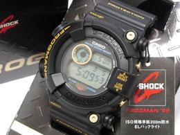 未使用品 G-SHOCK DW-8200BU-9AT FROGMAN 99 フロッグマン ゴールドチタン 黒金蛙