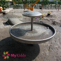 Springbrunnen auf Wasserspielplatz