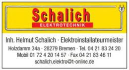 Helmut Schalich Elektriker - - Werbegemeinschaft Habenhausen-Arsten