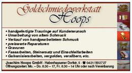 Goldschmiedewerkstatt Hoops - Werbegemeinschaft Habenhausen-Arsten