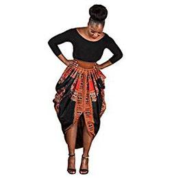 Jupe Femmes, Yanhoo Femmes Mode Irrégulière Imprimé Africain 5887