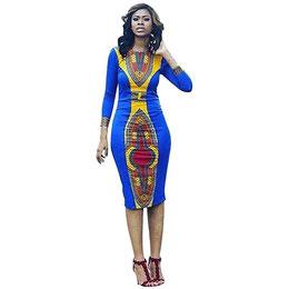 Jupe Femmes! Yanhoo Femmes À Manches Longues Mode Robe Africaine Imp 557. Prix : 4997,65 FCFA