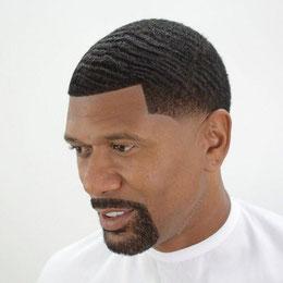 8 Coupe Homme chéveux frisés + barbe traitée. Prix : 2000 FCFA