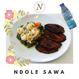 N-59-NDOLE SAWA + EAU 50 CL. Prix : 2500 FCFA. Ajoutez un plat à 2000 FCFA