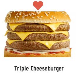 Amoureux du Cheeseburger. Prix : 4000 FCFA