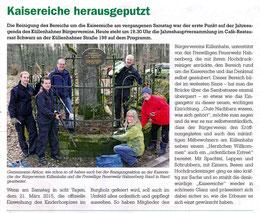 Bericht Cronenberger Anzeiger 10.3.2015