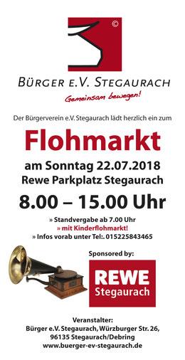 Flohmarkt REWE Stegaurach Sonntag 22.07.2018