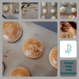 Burger Buns auf dem Zauberstein von Pampered Chef®