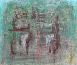 柵   acrylic on paper 37×43.5㎝