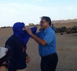 malek dans les dunes de Mergouza