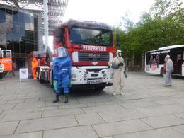 60 Jahre Wolfsburger Feuerwehr auf dem Hollerplatz