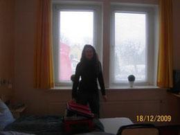 Tina ist immer mit auf Reisen, hier in Schleswig 2009