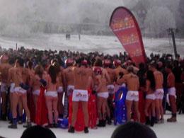 Nacktrodeln 2011 in Braunlage, geschätze 17000 Zuschauer