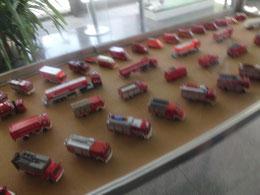 und eine kleine Modellfeuerwehrausstellung im Rathaus