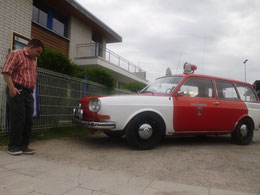 hier bei Neptun hatten sich die altenVW 411/412 verirrt, hier einer als Feuerwehrauto