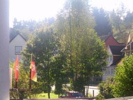 Blicvk aus meinem Hotelzimmer von der Schmiede auf Altenau