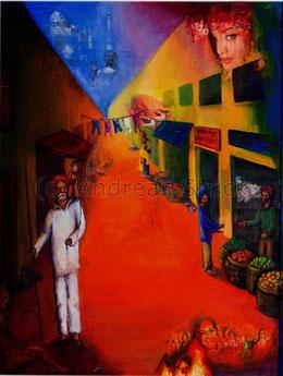 """Bild """"Indien"""", Größe: 60 x 80 cm"""
