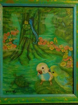 絵画 楽園のアート 立花雪 YukiTachibana
