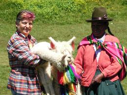 Brigitta Stallecker in Peru