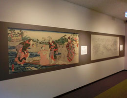 ●浮世絵や江戸時代の絵図などが展示