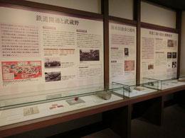 ●武蔵野ふるさと歴史館の展示。旧石器時代から近現代まで武蔵野の歴史を一望できます