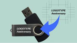 キャップ不要の回転式USBmemory