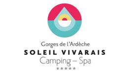 logo camping soleil vivarais sampzon Ardèche