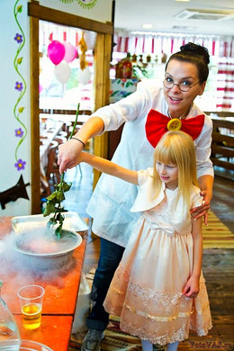 научное шоу с жидким азотом на детский день рождения москва