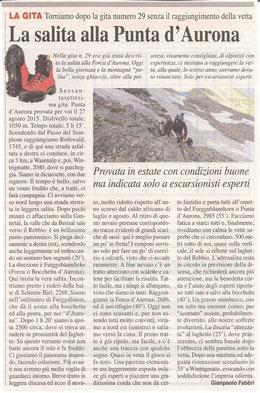 Gita n. 34 del 2015 PUNTA D'AURONA