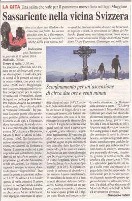 Gita n. 16 del 2014 SASSARIENTE