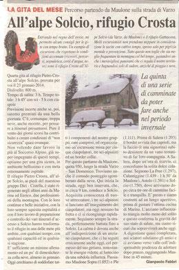 Gita n. 4 del 2014 RIFUGIO CROSTA