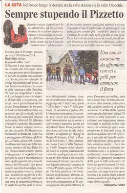 Gita n. 8 del 2014 IL PIZZETTO