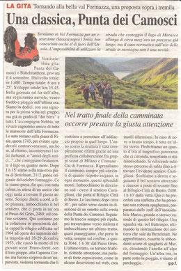 Gita n. 36 del 2014 PUNTA DEI CAMOSCI
