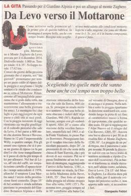Gita n. 49 del 2014 IL MOTTARONE DA LEVO