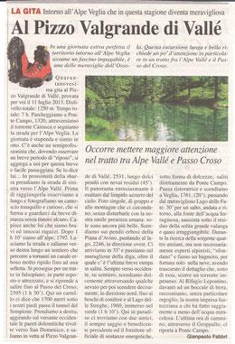 Gita n. 29 del 2013 PIZZO VALGRANDE DI VALLE'