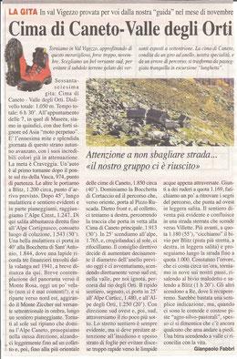 Gita n. 45 del 2015 CIME DI CANETO