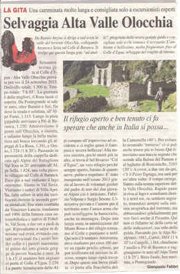 Gita n. 38 del 2015 COLLE D'EGUA