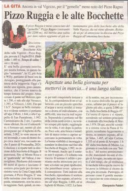Gita n. 27 del 2014 PIZZO RUGGIA