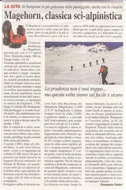 Gita n. 11 del 2014 MAGEHORN