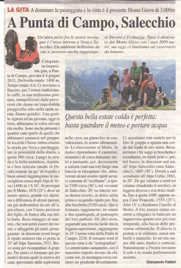 Gita n. 22 del 2015 PUNTA DI CAMPO